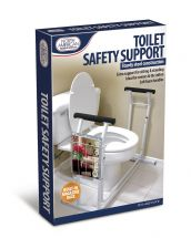 Toilet Safety Support Frame with Magazine Holder